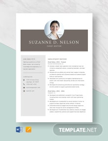 Chief Editor Resume Template