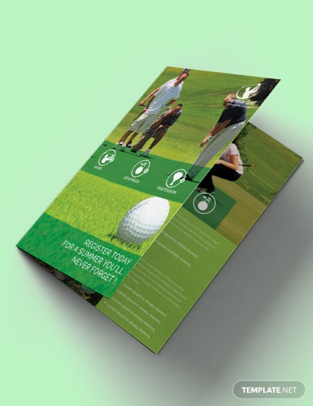 Free Golf BiFold Brochure Template