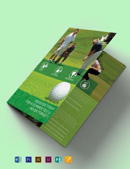 Golf BiFold Brochure Template