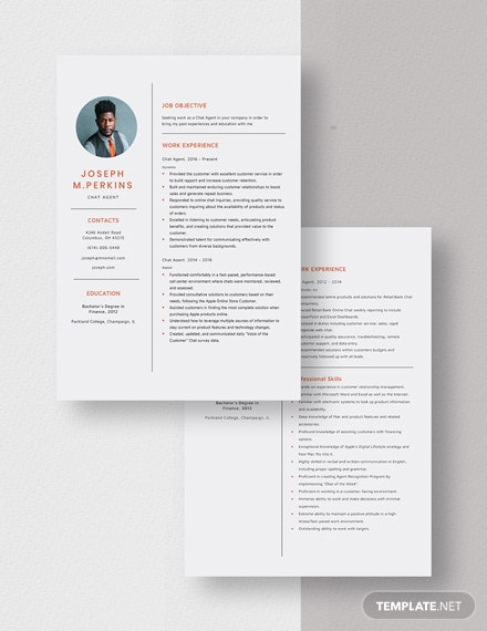 Chat Agent Resume Download