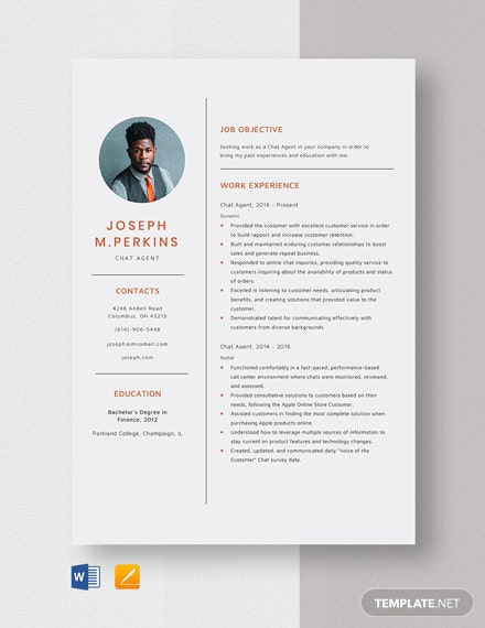 Chat Agent Resume