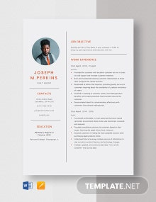 Chat Agent Resume Template