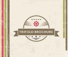 Free Multipurpose Retro Trifold Brochure Template