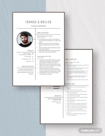 Chassis Engineer Resume Download