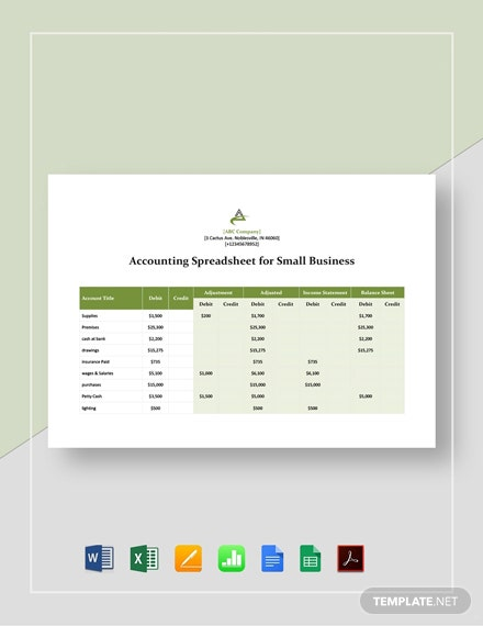Accounting Spreadsheet Templates For Small Business