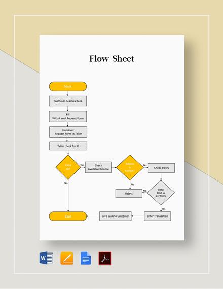 Flow Sheet Template