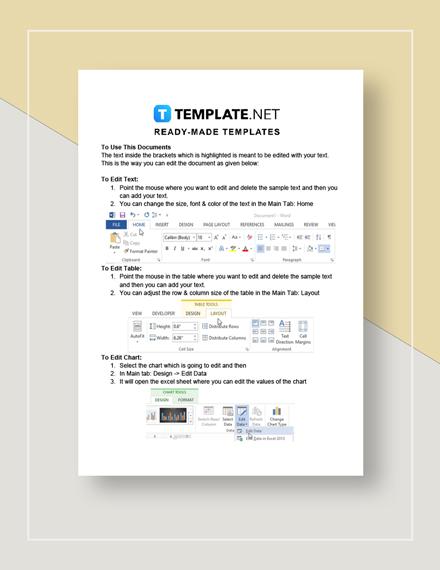 Flow Sheet Instructions