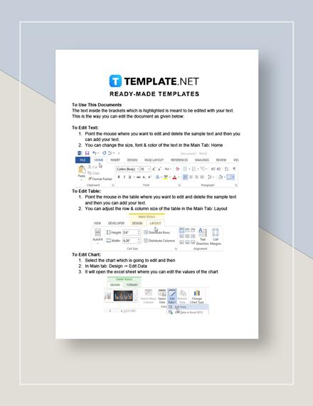 Stock Tracking Worksheet Instructions