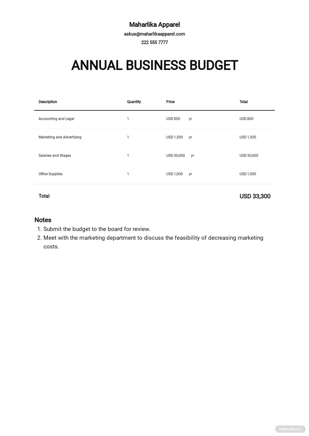 Annual Business Budget Template.jpe
