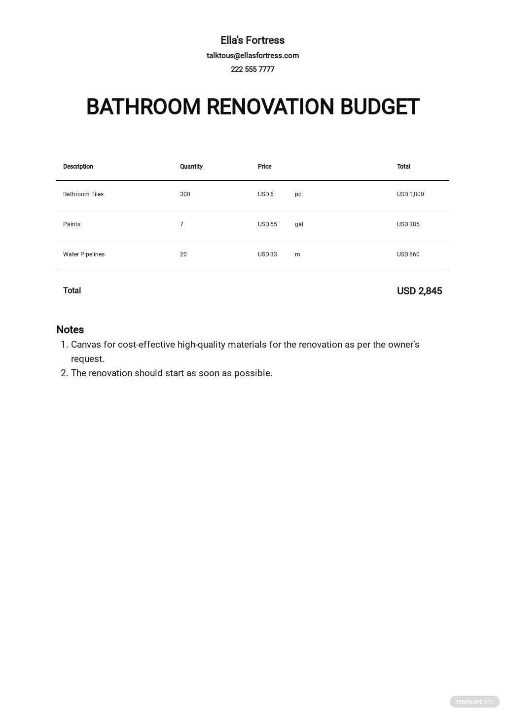 Bathroom Renovation Budget Template.jpe