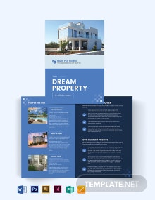 Commercial Real Estate Agent Agency Bi-Fold Brochure Template