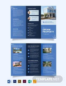 Commercial Real Estate Agent Agency Tri-Fold Brochure Template