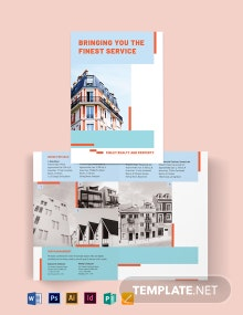 House Realtor Bi-Fold Brochure Template
