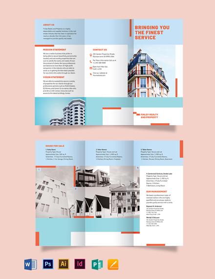 House Realtor Tri-Fold Brochure Template