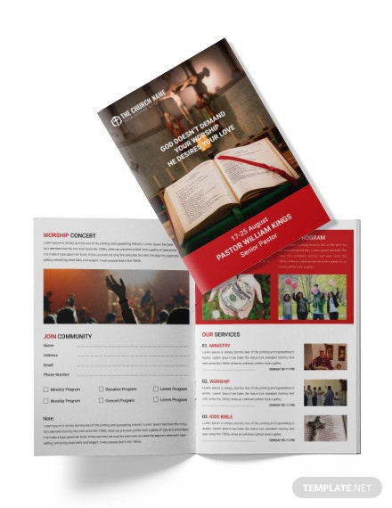 Free A4 Sample Church Brochure Template Download 151 Brochures In