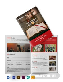 Free A4 Sample Church Brochure Template
