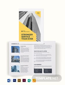 Commercial Property Bi-Fold Brochure Template