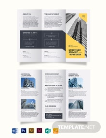 Commercial Property Tri-Fold Brochure Template