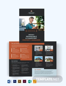 Property Management Maintenance Bi-Fold Brochure Template