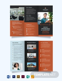 Property Management Maintenance Tri-Fold Brochure Template