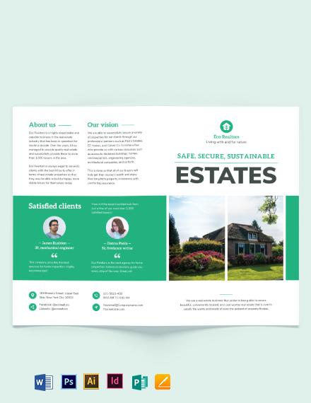 Professional Home Inspector Bi-Fold Brochure Template