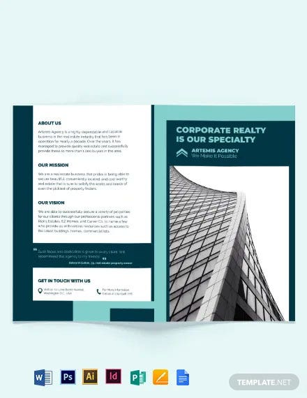 Construction Inspector Bi-Fold Brochure Template