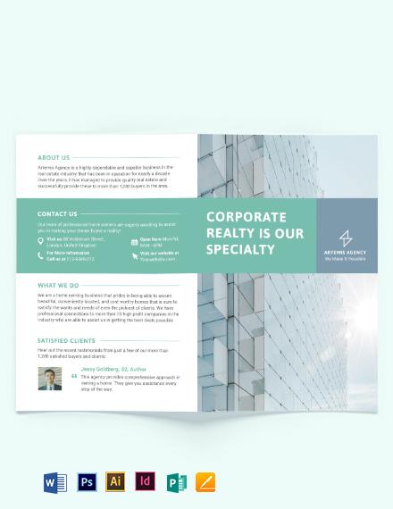 Home Owners Association Bi-Fold Brochure Template