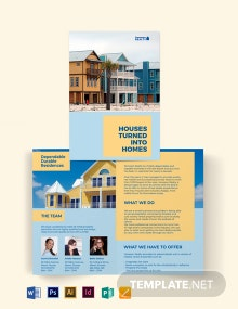 Family Vacation Rental Bi-Fold Brochure Template