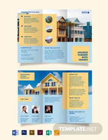 Family Vacation Rental Tri-Fold Brochure Template