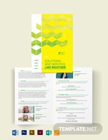 Land for Sale Bi-Fold Brochure Template