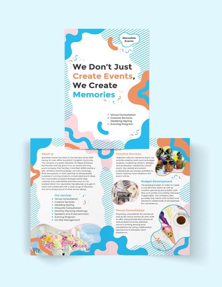Event Service Bi-Fold Brochure Template