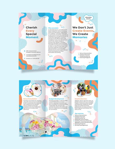 Event Service Tri-Fold Brochure Template