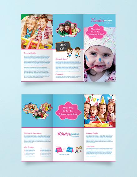 Free Kindergarten Tri-Fold Brochure Template