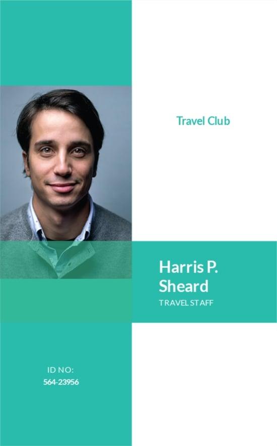 Simple Club ID Card Template