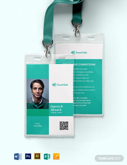 Simple Club ID Card Template