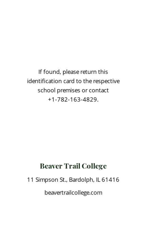Simple College ID Card Template 1.jpe