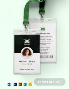 Simple College ID Card Template