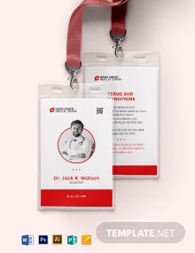 Simple Emergency ID Card Template