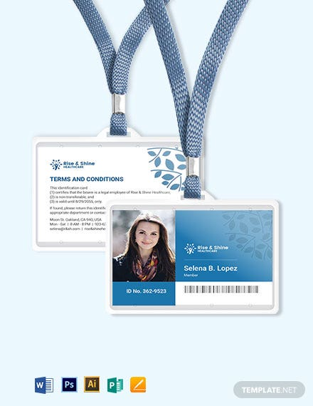 Simple Healthcare ID Card Template