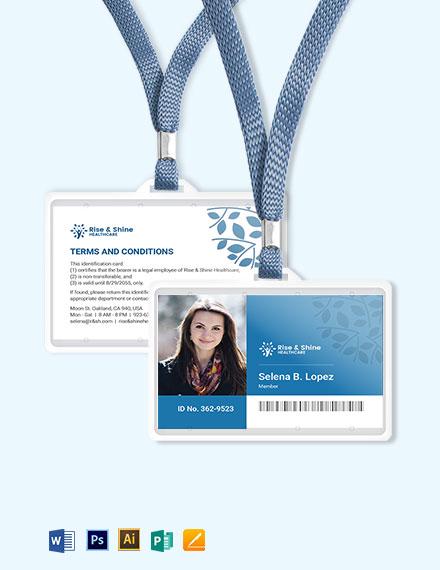 Simple Healthcare ID Card Template