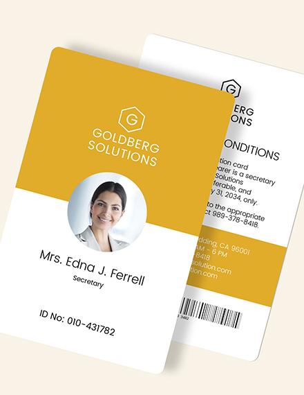 Sample Simple ID Card