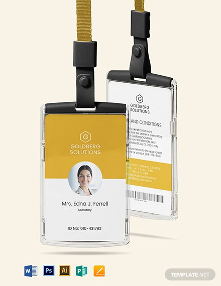 Simple ID Card Template