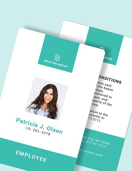Sample Simple Investigator ID Card