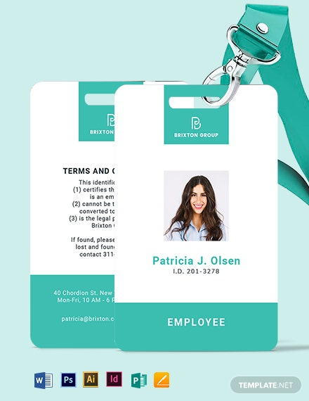 Simple Investigator ID Card Template