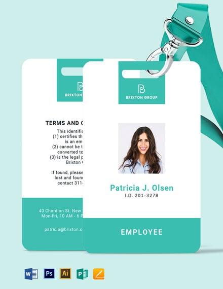 Simple Investigator ID Card Template
