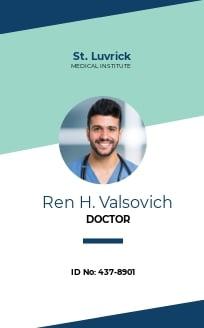 Simple Medical ID Card Template