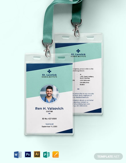 Simple Medical ID Card