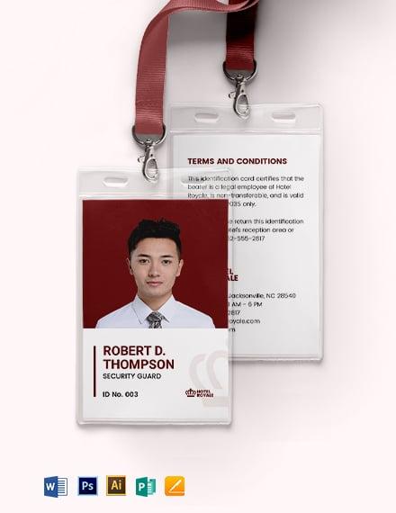 Simple Security ID Card