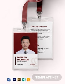 Simple Security ID Card Template