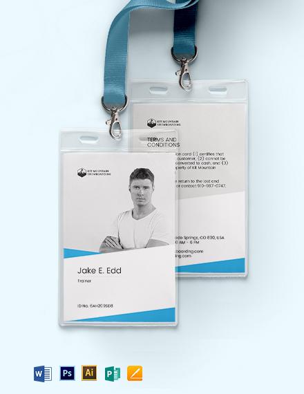 SnowBoard ID Card Template